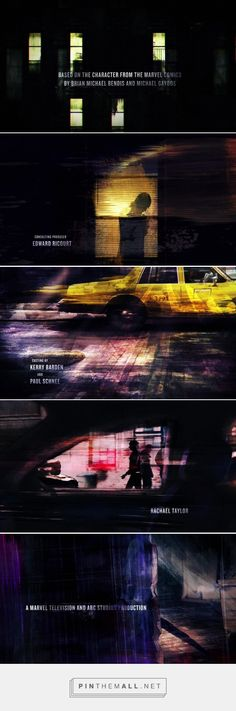 Marvel's Jessica Jones - Main Title   Imaginary Forces... - a grouped images…