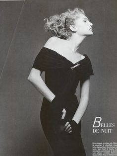 Michaela Bercu in Vogue Paris, March 1989, by Bettina Rheims