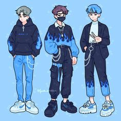 Some fire fits 🔥✊ which is your fav? (order is jimin, jungkook, taehyung) Source by mvdinee clothing sketches Arte Do Kawaii, Kawaii Art, Kawaii Drawings, Cute Drawings, Arte Copic, Japon Illustration, Clothing Sketches, Cute Art Styles, Art Reference Poses