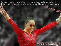 But to hold it together when everyone else would understand if you fell apart, that is true strength. Jordyn really showed true strength Gymnastics Facts, Gymnastics Images, Olympic Gymnastics, Gymnastics Stuff, Gymnastics Posters, Olympic Badminton, Olympic Games Sports, Olympic Team, Inspirational Gymnastics Quotes