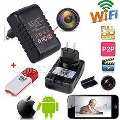 Spy Wifi FULL hd 1080P charger socket Camera