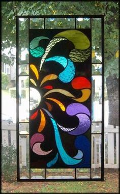 **TURNABOUT IS FAIR PLAY** Stained Glass Window Panel(Signed and Dated) | eBay