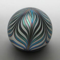 Steve Smyers Perfume, Eclectic Design, Glass Paperweights, Glass Ball, Marbles, Famous Artists, Side View, Glass Ornaments, Hand Blown Glass
