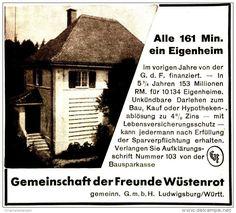 Original-Werbung/ Anzeige 1931 - BAUSPARKASSE GEMEINSCHAFT DER FREUNDE WÜSTENROT  - ca. 100 x 90 mm