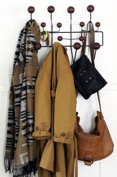 looks like fall is in the air! Eames Hang Alls Coat Rack in Black