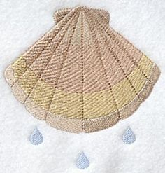 Baptism- baptismal scallop shell. Part of a design pack, but can be purchased alone. 7 colors.