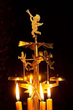 Swedish angel chimes-- an old Christmas favorite.  I used to love this at my Grandma Anderson's! When I was little.