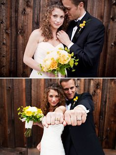 Ring Picture - love the flowers and the second pose