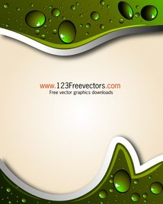 Abstract Background with Water Drops Vector Illustration Vintage Floral Backgrounds, Free Vector Backgrounds, Free Vector Graphics, Free Vector Art, Abstract Backgrounds, Water Drop Vector, Underwater Background, Splash Images, Free Vector Illustration