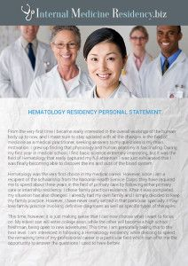 Medical residency personal statement services