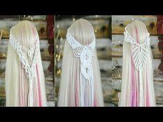 Macrame Headband, Boho Headband, Macrame Knots, Macrame Jewelry, Veil Diy, Headband Tutorial, Macrame Curtain, Pomegranates, Macrame Patterns