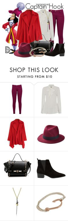 """""""Captain Hook"""" by leslieakay ❤ liked on Polyvore featuring Great Plains, Vince Camuto, MANGO, Noir, MIANSAI, disney, disneybound and disneycharacter"""