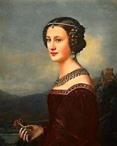 1828 Cornelia Vetterlein by Joseph Karl Stieler (Schönheitengallerie Schloß Nymphenburg, München Germany)