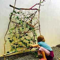 nature art, Figment Creative, nature loom, nature weaving, branch weaving, earth loom, nature crafts, Wee Warhols, Austin, art class