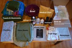 Some Homebirth supplies just in case there is not a holistic center near by… Newborn Needs, Hospital Birth, Water Birth, Getting Ready For Baby, Medical, Natural Birth, Midwifery, Baby Birth, Doula