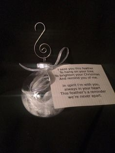 Memorial Feather Ornament by OrnamentalMemories on Etsy, $5.00
