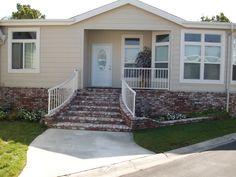 images of front porch steps designs Mobile Home Porch, Mobile House, Front Porch Steps, Front Porches, Manufactured Home Porch, Brick Steps, Concrete Porch, Steps Design, Single Wide