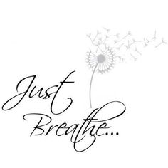 just breathe- font for tattoo