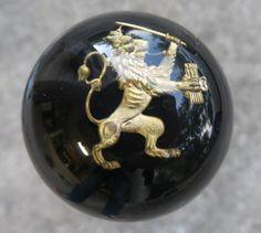 HouseOspeed - Hot Rod Shift Knob - Heraldic (Hero) Shield Lion Shift Knob, $50.00 (http://www.hotrodshiftknob.com/heraldic-hero-shield-lion-shift-knob/)