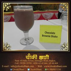 A creamy, healthy and refreshing milkshake filled with chocolate syrup and milky ice creamserved by Chouki Dhani Resort Rajkot to rejoice plus refresh in summer.