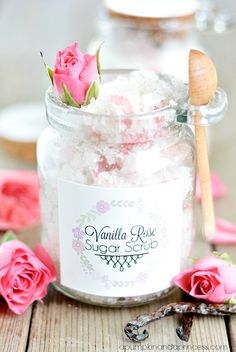 Vanilla Rose Sugar Scrub. For Mother's Day, birthdays, bridal showers or for a just because.
