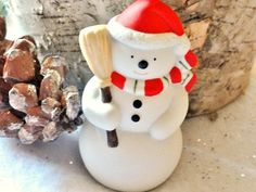 Vintage Snowman White Bisque Christmas Tree by RustbeltTreasures, $16.00