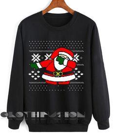 Unisex Crewneck Sweatshirt Santa Claus Dab On Em Sweater Design Clothfusion