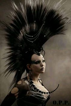 Awesome Mohawk Hair Style Punk Goth