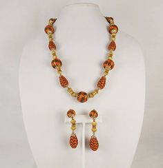 ALICE CAVINESS Necklace and Earrings Demi Parure
