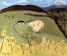 Milton Avery, Apple Orchard in Bloom, 1943