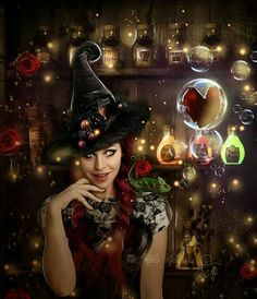 Love potion by Fae-Melie-Melusine on DeviantArt Magical Pictures, Unicorn And Fairies, Wolf, Vampire Love, Fantasy Photography, Mythological Creatures, Photo Manipulation, Witchcraft, Fantasy Art