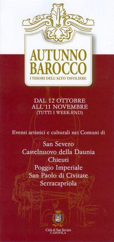 """Rassegna di eventi """"Autunno Barocco. I tesori dell'Alto Tavoliere"""" (12 ottobre - 11 novembre 2007)"""