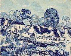 Vincent van Gogh - Cottages in Auvers