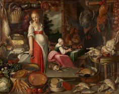 16th Century Kitchen with Cook and Maid – Unknown | Sifting The Past