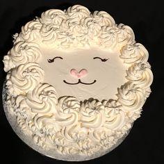 Little Lamb cake Lamb Cupcakes, Cupcake Cakes, Sheep Cake, Timmy Time, Lamb Cake, Easter Lamb, Bolo Cake, Spring Cake, Animal Cakes