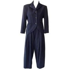 1980s Issey Miyake Wool Pinstripe Suit