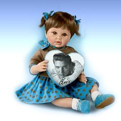Baby Dolls and Child Dolls - carosta.com - The Blue Suede Shoes Elvis Inspired Baby Doll