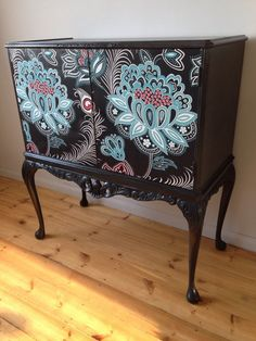Vintage, Retro, Up-cycled, Decoupage, Louis XV style, Drinks Cabinet, Cupboard   eBay