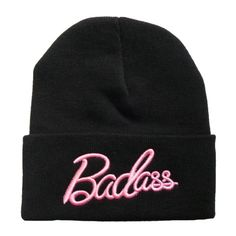 Badass Beanie (94 BRL) ❤ liked on Polyvore featuring accessories, hats, beanies, headwear, black, beanie hats, cotton beanie, cotton beanie caps, beanie cap hat and beanie caps