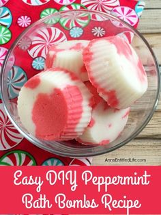 Easy DIY Peppermint Bath Bombs Recipe By Ann Make bath and shower time fresh and fabulous with these easy to make, Homemade Peppermint Bath Bombs. The cool aromatic scent of peppermint will energize your senses, clear your nasal passages and perk up your day! Use these Easy DIY Peppermint Bath...