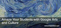 close up of Starry Night Google Art Project, Arts Integration, Open Art, Today In History, Van Gogh Paintings, Ancient Egyptian Art, High School Art, Arts Ed, Art And Technology
