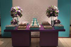 Mesa de doces Lilás e azul !!