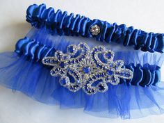 Royal Blue wedding,Garter Set,Lace garter Set.Bride,Wedding ...