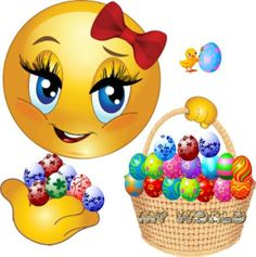 Happy Easter Smile Emoji Love, Emoji Symbols, Easter Quotes, Winnie The Pooh Quotes, Smileys, Happy Easter, Messages, Jokes, Good Morning Messages