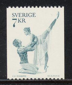 Schweden Briefmarke Ballett Romeo und Julia