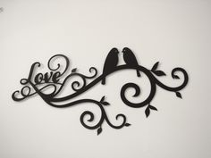 Click here for color options on our Cnc Plasma Cut Love Birds Metal Wall Art; https://www.etsy.com/listing/180521801/love-bird-scroll-16-gauge-metal-wall?ref=shop_home_active_18 $42.50
