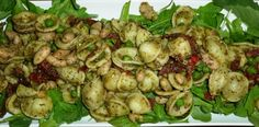 Voila! Light, refreshing summer salad! - Pesto with white beans, english peas & sun dried tomato