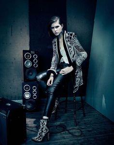 'Rock Diaries', Kel Markey by Paolo Roversi for Vogue China, November 2012