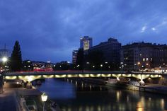 Vienna by night Vienna, New York Skyline, Beautiful Pictures, Night, Travel, Glamour, Viajes, Pretty Pictures, Destinations