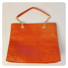 Toni Tote Orange was $309 now $111.94  An elegant bag for that special evening out. Love Craft, Hold Ups, Handbags On Sale, Hand Stitching, Shoulder Bag, Tote Bag, Purses, Larger, Laptop
